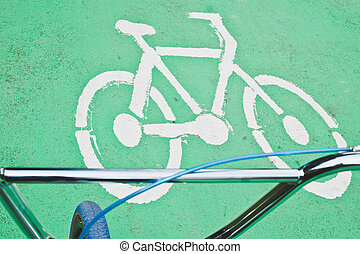 자전거, 도로 표지