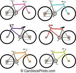 자전거, 세트