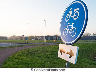 자전거 차선, 표시
