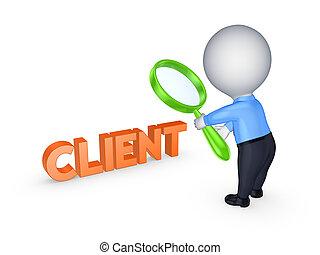 작다, 사람, 낱말, client.