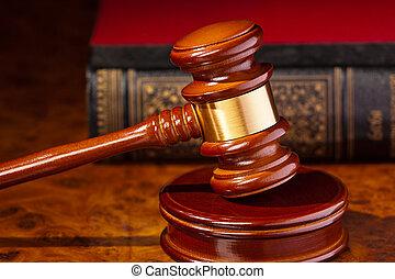 작은 망치, 의, a, 재판관, 에서, 법정