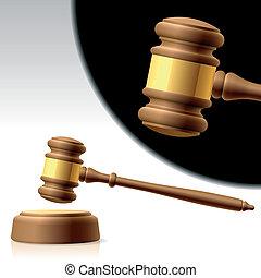 작은 망치, 재판관