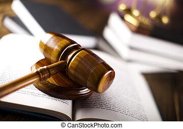 작은 망치, 통하고 있는, 법률이 지정하는, 법전