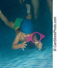 잠수, 에, 보다, a, 장난감
