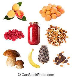 장과, 수집, 익은, 과일