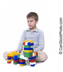 장난감과 더불어 아이, 구획