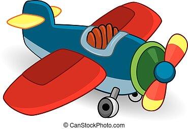 장난감, plane., 벡터