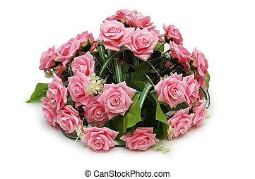 장미의꽃다발, 고립된, 통하고 있는, 그만큼, 백색