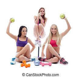 장비, 혼자서 젓는 길쭉한 보트, 자세를 취함, 여자 운동가, 운동회