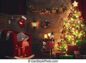 장식식의, 방, 크리스마스