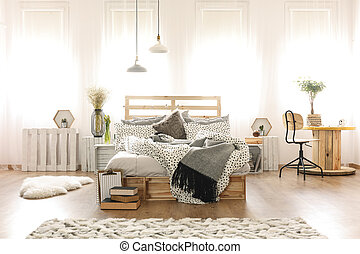 장식식의, 침실, 내부