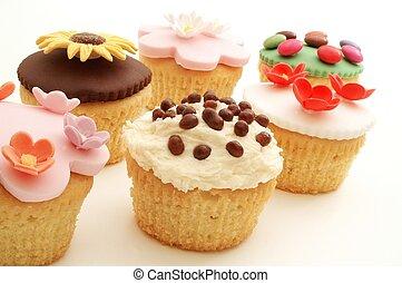 장식식의, 케이크, 컵