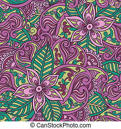 장식적이다, 꽃의, 꾸밈이다, seamless, 패턴