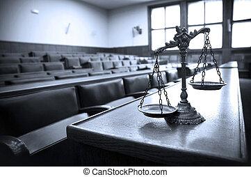 장식적이다, 정의, 법정, 저울