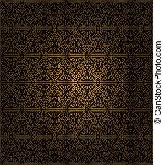 장식적이다, seamless, pattern.