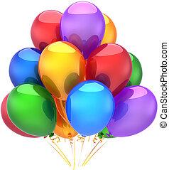 장식, 파티, 생일, 기구