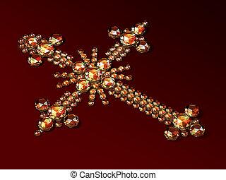 장식, brilliants, 웅대한, 선물, 다이아몬드
