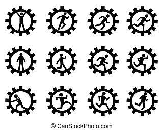 장치, 남자, 상징