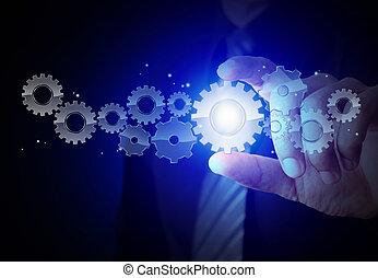장치, 와, 성공, 개념