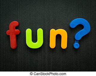 재미, 개념, 질문