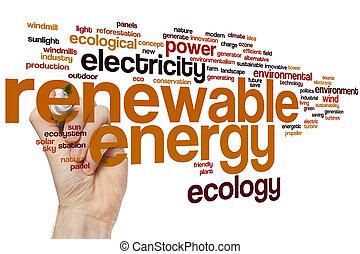 재생 가능 에너지, 낱말, 구름