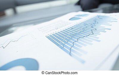 재정상의 그래프, 통하고 있는, 그만큼, desktop., 사업, 배경.