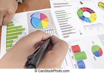 재정, 자료, 분석하는 것