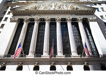 재정, 지구, 교환, 요크, 새로운, 맨해튼, 주식