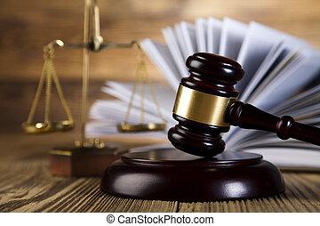 재판관, 나무의 작은 망치, 와..., 법, 저울