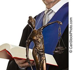 재판관, 와, 법전, 와..., 정의