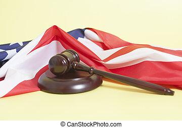 재판관, 작은 망치, 와, 미국 기
