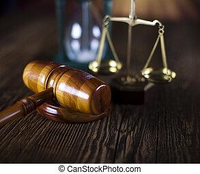 재판관, 작은 망치, 와..., 저울