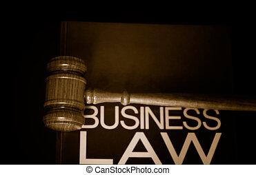 재판관, 작은 망치, 통하고 있는, a, 사업, 법률 서적