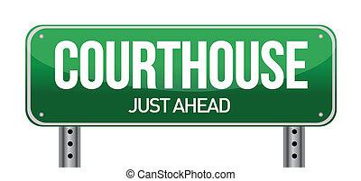 재판소, 도로 표지