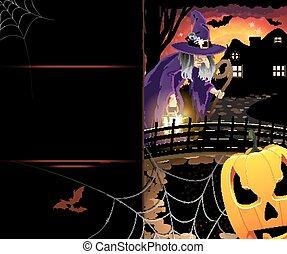 잭 o'lantern, 와..., 늙은, 마녀