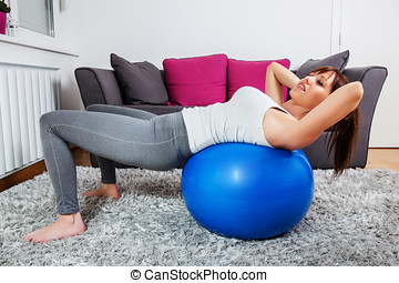적당, 여자, 운동시키는 것