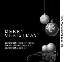 전구, 백색, 검정, 크리스마스