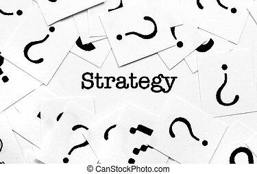 전략, 와..., 물음표