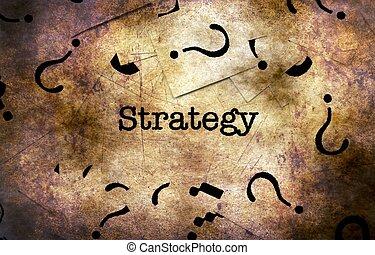 전략, 와..., 물음표, grunge, 개념