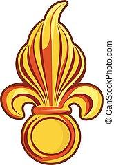 전령의, 상징, 프랑스 왕실