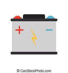 전지, 힘, 에너지, 기술, icon., 벡터, 문자로 쓰는