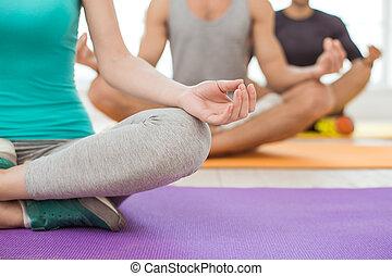 젊은이, 운동, 함께, 건강한 생활양식, 개념