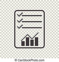 점검표, icon., 그래프, 바람 빠진 타이어, 삽화