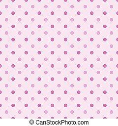 점, 핑크, 회색, -, 폴카, seamless, 삽화, 2, 색, 패턴, 백색, 여자