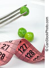 접시, 센티미터, 완두, 측정