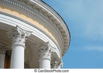 정면, 란, 늙은, 역사의, 건축상이다