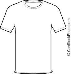 정면, 티셔츠, 벡터