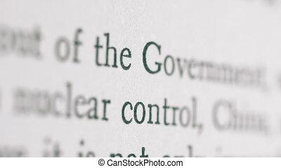 정부, 핵병기, 통제