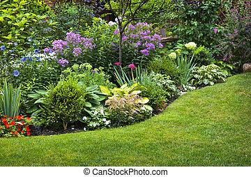정원, 와..., 꽃