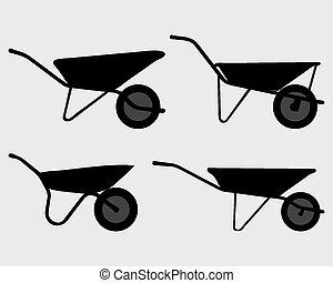 정원, 외바퀴 손수레